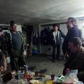 Ajungem inapoi la Tiopl�i Kliuci, unde Victor, fost sofer pe santierul Kol�mei,  ne ofera o mica petrecere in garajul sau